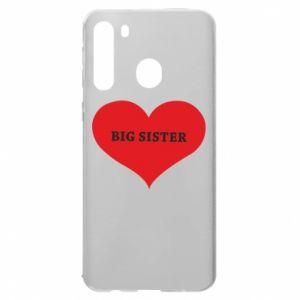 Etui na Samsung A21 Big sister, napis w sercu