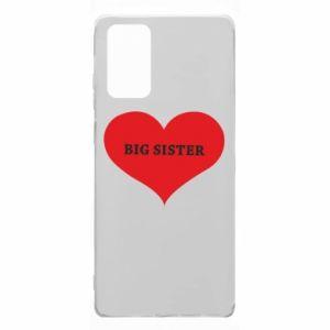 Etui na Samsung Note 20 Big sister, napis w sercu