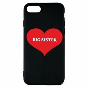 Etui na iPhone 7 Big sister, napis w sercu