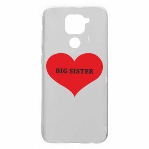 Etui na Xiaomi Redmi Note 9/Redmi 10X Big sister, napis w sercu