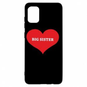 Etui na Samsung A31 Big sister, napis w sercu