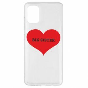 Etui na Samsung A51 Big sister, napis w sercu