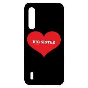 Etui na Xiaomi Mi9 Lite Big sister, napis w sercu
