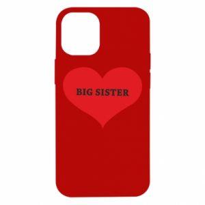 Etui na iPhone 12 Mini Big sister, napis w sercu