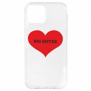Etui na iPhone 12/12 Pro Big sister, napis w sercu