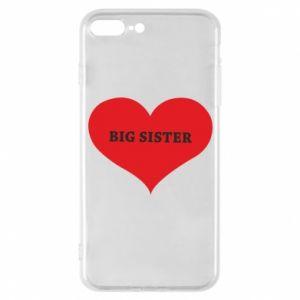 Etui do iPhone 7 Plus Big sister, napis w sercu