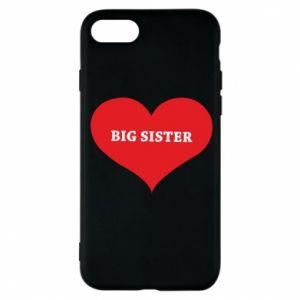 Etui na iPhone 8 Big sister, napis w sercu