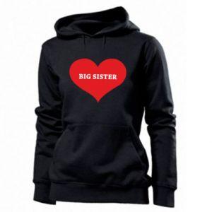 Bluza damska Big sister, napis w sercu
