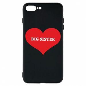 Etui na iPhone 8 Plus Big sister, napis w sercu