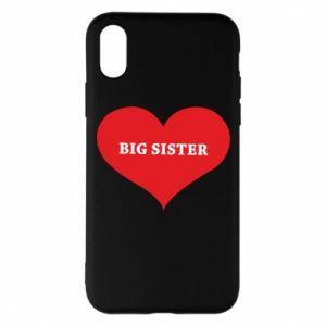 Etui na iPhone X/Xs Big sister, napis w sercu