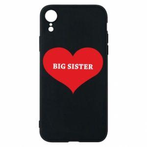 Etui na iPhone XR Big sister, napis w sercu