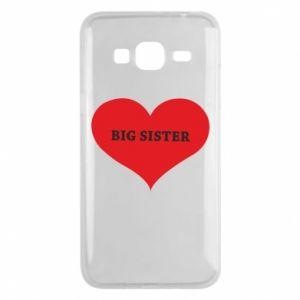 Etui na Samsung J3 2016 Big sister, napis w sercu