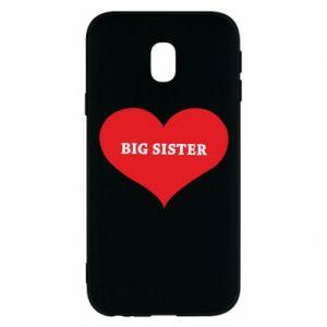 Etui na Samsung J3 2017 Big sister, napis w sercu