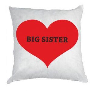 Poduszka Big sister, napis w sercu