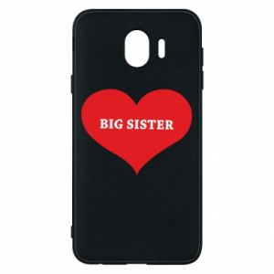 Etui na Samsung J4 Big sister, napis w sercu