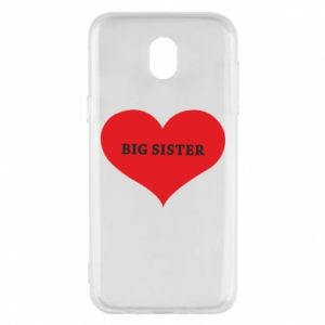 Etui na Samsung J5 2017 Big sister, napis w sercu