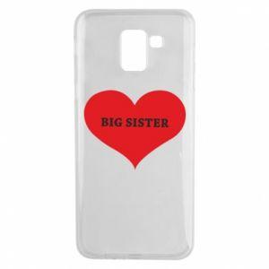 Etui na Samsung J6 Big sister, napis w sercu