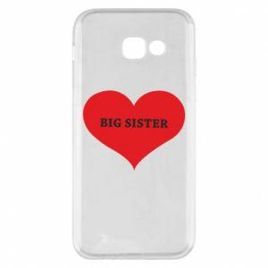 Etui na Samsung A5 2017 Big sister, napis w sercu