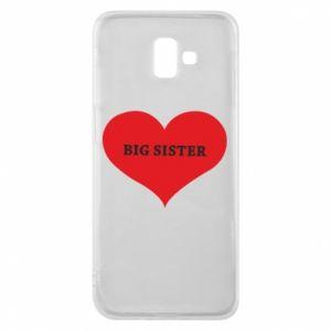 Etui na Samsung J6 Plus 2018 Big sister, napis w sercu