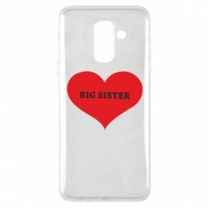 Etui na Samsung A6+ 2018 Big sister, napis w sercu