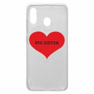 Etui na Samsung A20 Big sister, napis w sercu