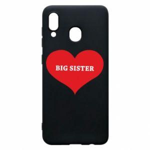 Etui na Samsung A30 Big sister, napis w sercu