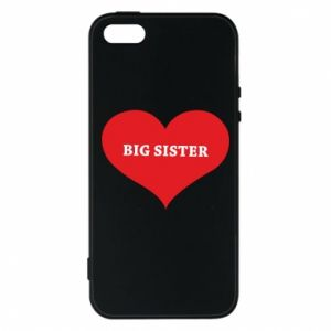 Etui na iPhone 5/5S/SE Big sister, napis w sercu