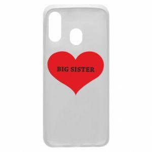 Etui na Samsung A40 Big sister, napis w sercu