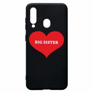 Etui na Samsung A60 Big sister, napis w sercu