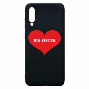 Etui na Samsung A70 Big sister, napis w sercu