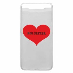 Etui na Samsung A80 Big sister, napis w sercu