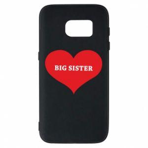 Etui na Samsung S7 Big sister, napis w sercu