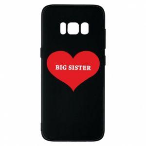 Etui na Samsung S8 Big sister, napis w sercu