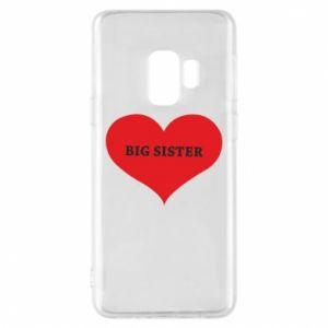 Etui na Samsung S9 Big sister, napis w sercu