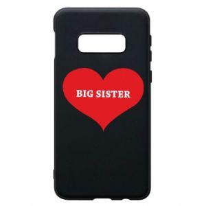 Etui na Samsung S10e Big sister, napis w sercu