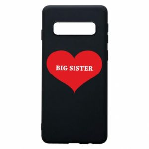 Phone case for Samsung S10 Big sister, inscription in the heart