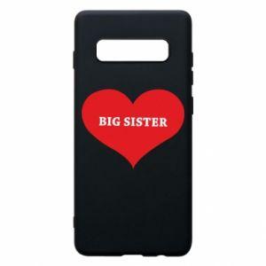 Etui na Samsung S10+ Big sister, napis w sercu