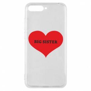 Etui na Huawei Y6 2018 Big sister, napis w sercu