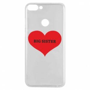 Etui na Huawei P Smart Big sister, napis w sercu