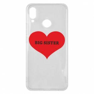 Etui na Huawei P Smart Plus Big sister, napis w sercu