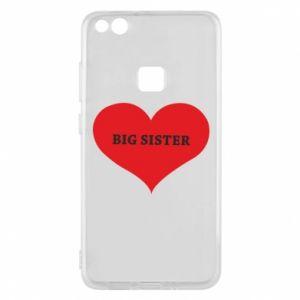 Etui na Huawei P10 Lite Big sister, napis w sercu