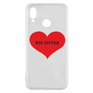 Etui na Huawei P20 Lite Big sister, napis w sercu