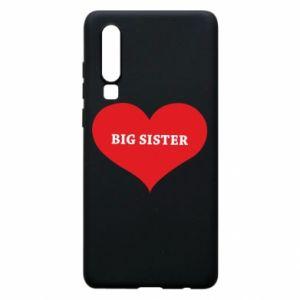 Etui na Huawei P30 Big sister, napis w sercu