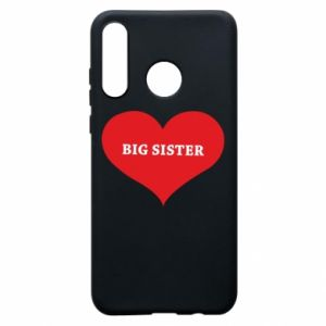 Etui na Huawei P30 Lite Big sister, napis w sercu