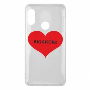 Etui na Mi A2 Lite Big sister, napis w sercu