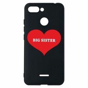 Etui na Xiaomi Redmi 6 Big sister, napis w sercu