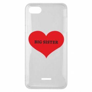 Etui na Xiaomi Redmi 6A Big sister, napis w sercu