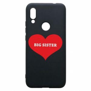 Etui na Xiaomi Redmi 7 Big sister, napis w sercu