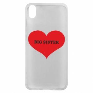 Etui na Xiaomi Redmi 7A Big sister, napis w sercu