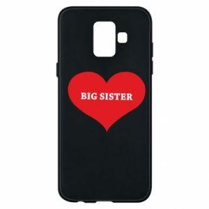 Etui na Samsung A6 2018 Big sister, napis w sercu